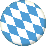 Bavaria State Flag 25mm Pin Button Badge